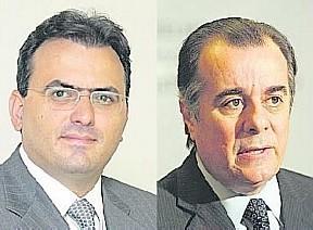 Coêlho (esq.) e Machado, candidatos a comandar a Ordem, têm suas chapas envolvidas em denúncia