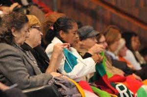 """As """"tricoteiras dos precatórios"""" em manifestação no Congresso Nacional.(Foto: Arquivo)"""