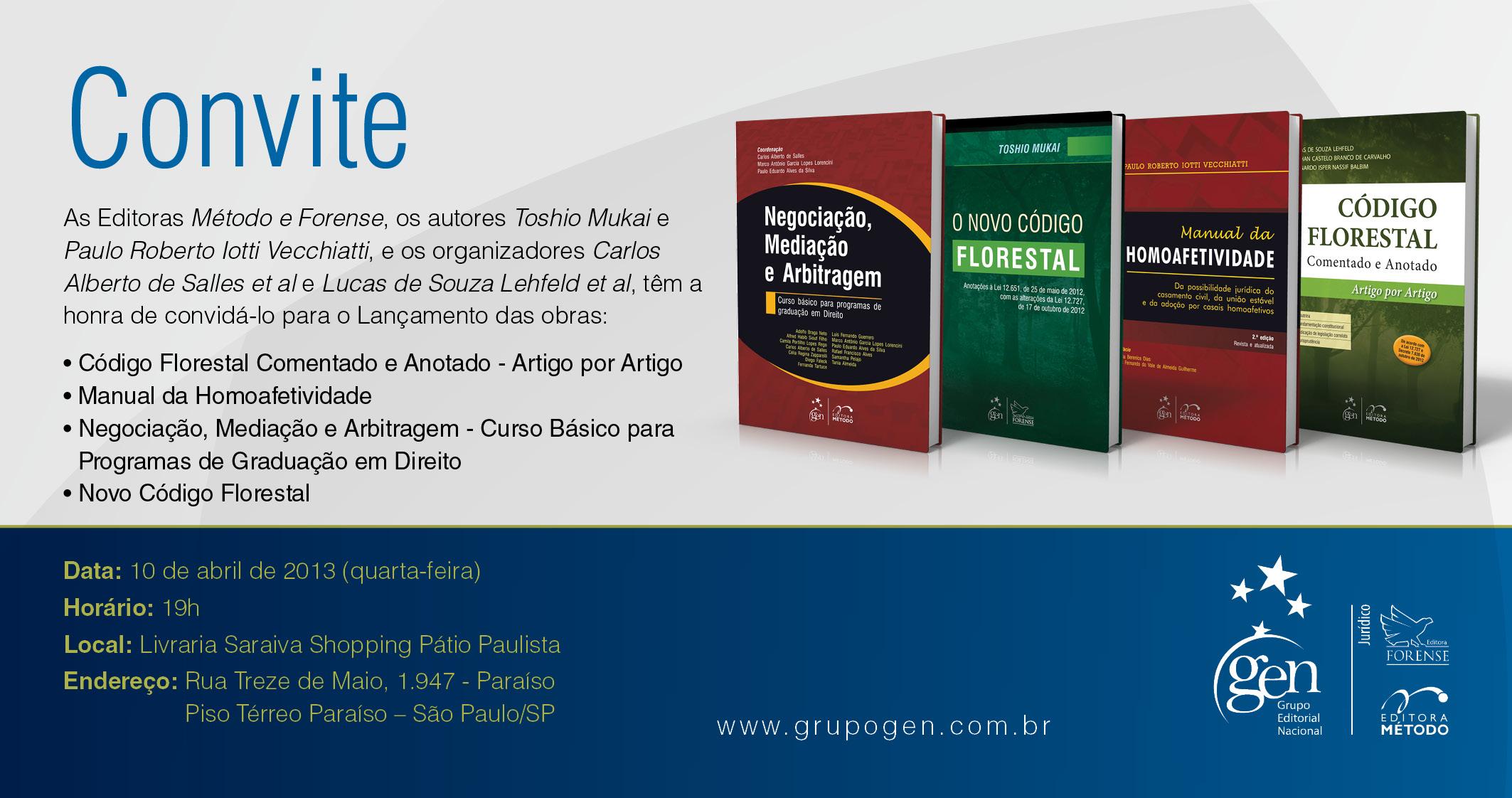 Convite lançamento-Saraiva Shop.Pátio Paulista 10.04.13