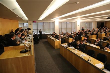 O comunicado foi feito por Marcus Vinicius durante sessão que acontece hoje na sede da OAB Nacional (Foto: Eugenio Novaes)