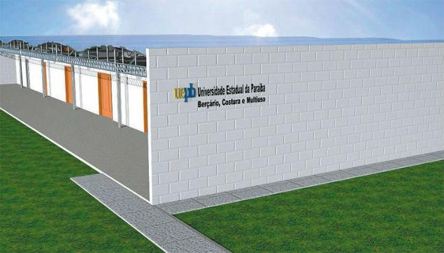 Croqui da unidade da UEPB que será inaugurada em complexo penitenciário no dia 20